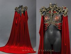 Another look at the top part and back of this piece: The main parts are either sculpted out of worbla (black art and transpa art) or apoxy sculpt (the r. Cathedral/pest dress front and back Mode Alternative, Fantasy Gowns, Fantasy Costumes, Character Outfits, Fashion Outfits, Womens Fashion, Costume Design, Aesthetic Clothes, Beautiful Dresses