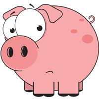 Cartoon Pig at the Beach | cartoon-pig-pink-pig-funny-farm-animals-cartoon-farm-animals-comic-sad ...