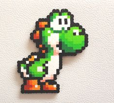 8 bits Bead Sprite, Pixel Art, cadeaux Gamer, Yoshi Mario Perler, Yoshi oeuf, Yoshi laineux World, Super Mario, Luigi, Toad, cadeau d