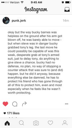 Bucky is so good and I can't wait for him to have the chance to see that