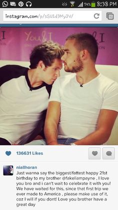 Awww! ! Niall posted this on twitter! Happy Birthday PAYNO ♥♥♥