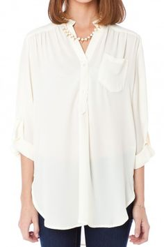Pure Colora Blouse in Ivory