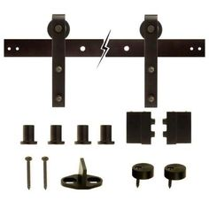 Everbilt Dark Oil-Rubbed Bronze Decorative Sliding Door Hardware-14445 - The Home Depot