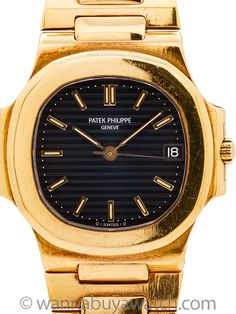 The Patek Philippe Nautilus is currently one of the most sought after watches in the world. Whether we are discussing the original ref. it's modern twin in the ref. or the host of… Modern Watches, Fine Watches, Watches For Men, Burberry Men, Gucci Men, Patek Watches, Artist And Craftsman, Thing 1, Patek Philippe
