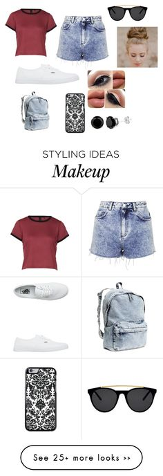 """Untitled #785"" by trinityyoung22 on Polyvore featuring Topshop, Vans, H&M and Smoke & Mirrors"