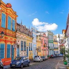 Location: The Colorful Streets of Salvador - Bahia, Brasil.  Photo Credit: @thetwohobos