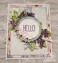"""This morning on the blog we kicked off our February Die Cut Designer Challenge! This month, the theme is 'In Stitches' - challenging our designers to feature any of the Elizabeth Craft Designs """"Stitched"""" dies on their cards. The featured card is by Katelyn Grosart. Check out the rest of the designers' cards here: http://blog.elizabethcraftdesigns.com/2017/02/die-cut-design-team-designer-challenge-february/"""