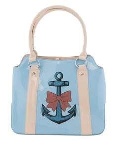 Light Blue Anchor Tote by Tatyana Diaper Bag, Light Blue, Satchel, Swag, Handbags, Purses, My Love, My Style, Anchors