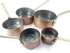 Antique french copper sauce pan little sauce pan by lefrenchshop, $76.00