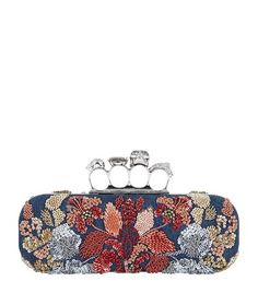 Alexander McQueen Embellished Denim Knuckleduster Clutch available to buy at Harrods. Shop Alexander McQueen bags online and earn Rewards points. Alexander Mcqueen Clutch, Clutch Bag, Leather Clutch, Luxury Gifts, Online Bags, Harrods, Bag Making, Coin Purse, Fashion Accessories