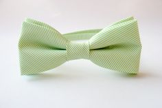 Mens bow tie freestyle groom wedding hipster classic retro necktie chic handmade gift for him by Bartek Design - Green Apple Mint. €22.50, via Etsy.