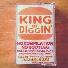 King of Diggin by @dj_muro #Turntablism #2Turntables #ScratchMaster #KingOfDiggin #DJMuro #Muro #Nujabes #BeatJunkie #BeatJunkieRadio #DITC #HipHop #BoomBap #Boom #Bap #Soul #Funk #Jazz #Latin #Duwop #Music #Tape #Cassette #1995 #JapaneseHipHop #Peace #Love #Respect  by 2ndstreetstudios http://ift.tt/1HNGVsC