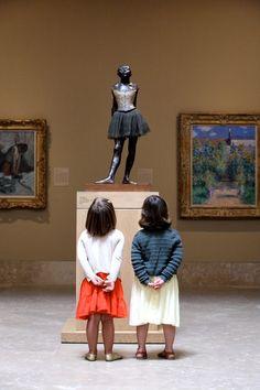 (French: La Petite Danseuse de Quatorze Ans) is a c. 1881 sculpture by Edgar Degas of a young student of the Paris Opera Ballet dance school, a Belgian named Marie van Goethem. Paris 3, I Love Paris, Edgar Degas, Oeuvre D'art, Marie, Art Gallery, Portraits, Black And White, Cool Stuff