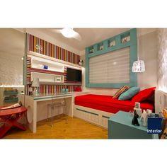 Quem disse que quarto de menina precisa ser só rosa  ❓ Mix de cores, turquesa, vermelho e listras  #bedroom #room #girl #bed #red #turquesa #listras #mix #colors #instadecoration #instadecor #decoração #decoration #decor #lovedecor #lovecolors #arquitetura #architecture #arquilovers #nossoprojeto #projetospacointerior #spacointerior #arquitetasemsaopaulo #moemaarquitetura #moema
