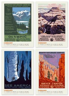 WPA National Parks Posters