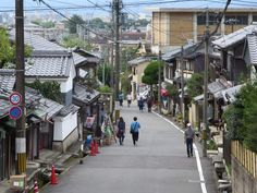 A quiet street in the Northern Higashiyama district of Kyoto, Japan.