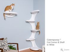 Catemporary® Cat Corner and Shelf