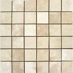 MS International Ivory 12 in. x 12 in. x 10 mm Honed Travertine Mesh-Mounted Mosaic Tile-THDW1-SH-IVO2x2 - The Home Depot