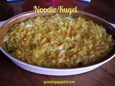 Sweet Noodle Kugel - I've only ever made recipe in the Moosewood Cookbook so I look forward to trying this (probably for Rosh Hashanah). My MIL always serves this as a side dish, even though I always make it sweet.