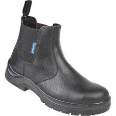 Himalayan Black Leather Dealer Safety Boot with Dual Density Sole &...