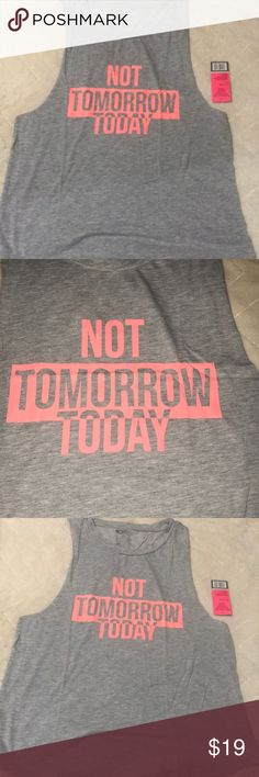 """""""Not tomorrow, Today"""" women's graphic tee boutique Motivational tee shirt for ladies who want to make their dreams happen right now! Perfect for working out or relaxing Style Link Miami Tops Tank Tops"""
