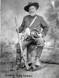 the legendary hanging judge, Roy Bean, Langtry Texas. Betrayed by Paul Newman in the movie The Life and Times of Judge Roy Bean. Old West Outlaws, Old West Photos, Into The West, The Lone Ranger, American Frontier, Texas History, Le Far West, Mountain Man, Interesting History