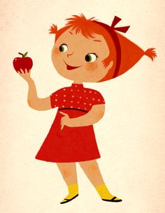 I'm not sure what this Mary Blair image is from, but I am completely in love with it. Isn't it just perfect for FALL?