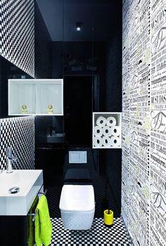 Zdjęcie numer 9 w galerii - Stylowe mieszkanie w nowym bloku Wc Design, Toilet Design, House Design, Interior Design, Powder Room Decor, Modern Toilet, Bathroom Design Inspiration, Maximize Space, Bathroom Design Small