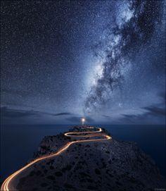#Lighthouse and an unusual night sky — The Forgotten Garden    http://dennisharper.lnf.com/