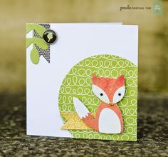 This adorable little fox features on our Thinlits™ dies for new designers Craft Asylum®. Simply click the image for Paula Pacual's tutorial.