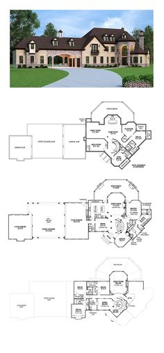 French Country House Plan 72226 | Total Living Area: 3302 sq. ft., 4 bedrooms and 4.5 bathrooms. #frenchcountryhome