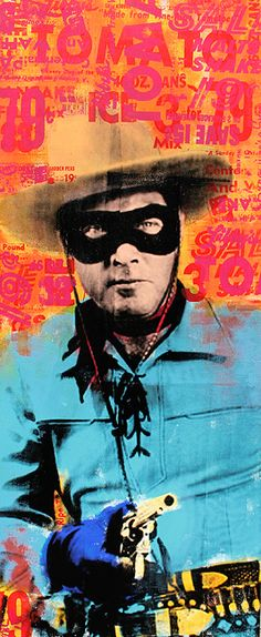 The Lone Ranger - This would be cool in my son't room. Vintage Tv, Vintage Posters, The Lone Ranger, Comic Character, Wild West, Retro, Screen Printing, Book Art, Modern Art