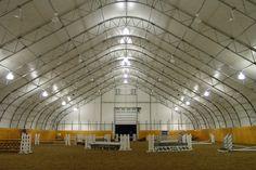 Steel truss and tensile fabric indoor arena