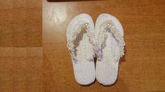 Sandali infradito all'uncinetto tutorial - sandalias crochet - crochet sandals - YouTube