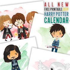 Whimsical Free Printable 2020 Harry Potter Calendar - The Cottage Market Harry Potter Free, Harry Potter Wall Art, Printable Calendar Template, Free Printables, Christmas Planner Free, Christmas Cards, Harry Potter Calendar, Anniversaire Harry Potter, Harry Potter Christmas