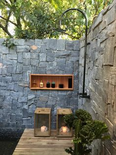 45 outdoor bathrooms that you must choose with amazing design 26 Outdoor Tub, Outdoor Baths, Outdoor Bathrooms, Outdoor Spaces, Outdoor Gardens, Outdoor Living, Outdoor Decor, Open Bathroom, Wood Bathroom