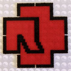Rammstein logo Perler Beads, Projects, Eye, Manualidades, Log Projects, Blue Prints