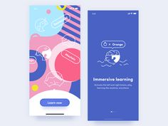 Educational App designed by Muriel for RaDesign. Connect with them on Dribbble; Web Design, App Ui Design, User Interface Design, Site Design, Flat Design, Design Thinking, Paginas Webs, Ui Design Mobile, Design Typography
