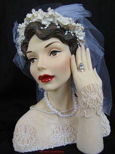 Cameo Girls Judith 1936 Bride I do Head Vase Headvase | eBay