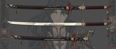 ExtraWeapon by Rofeal on DeviantArt Samurai Weapons, Ninja Weapons, Anime Weapons, Fantasy Weapons, Fantasy Sword, Katana, Crossbow Targets, Armas Ninja, Elemental Powers