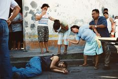 Alex Webb, Murder scene -- the result of an argument in a nearby bar, Tenosique, Mexico, 2007