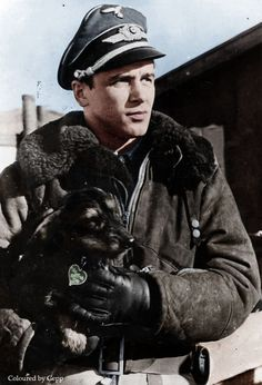 Luftwaffe Major Hans Philipp color photos of World War II worldwartwo.filminspector.com #WorldWar2