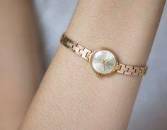 Small lady's wristwatch Glory gold plated round by SovietEra