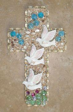 Love Joy Peace Doves Wall Cross