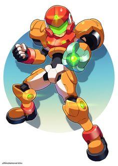 Model SA - Mega Man Meets Samus by ultimatemaverickx.deviantart.com on @deviantART