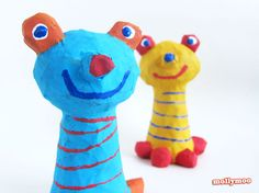 MollyMoo – crafts for kids and their parents Papier Mache Crafts For Kids - frog to inspire play