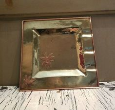 Handmade Mexican Brass and Copper Ashtray Signed Eve Lucas #Homemade