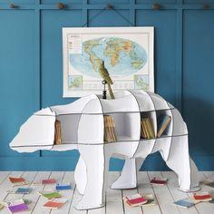 Polar Bear Bookshelf