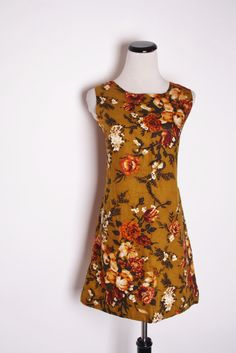 Vintage 1960s Mod Rustic Autumn Tapestry Rose Short by aiseirigh/ I like this one