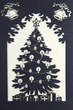 Puristische Weihnachtskarte zweifarbig. Wunderschön. Mandala, Playing Cards, Xmas Cards, Gifts, Nice Asses, Playing Card Games, Cards, Game Cards, Coloring Pages Mandala